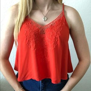Lush Floral Embroidered Crop Tank Top